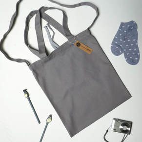 ARTE 2 Way Canvas Tote Bag | Grey